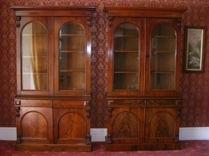 A pair of early Victorian Library Bookcases £1200-1400