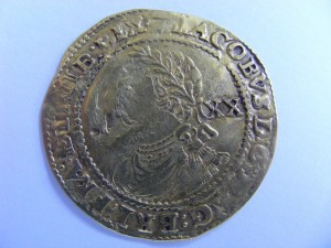 James I gold laurel 20 shillings