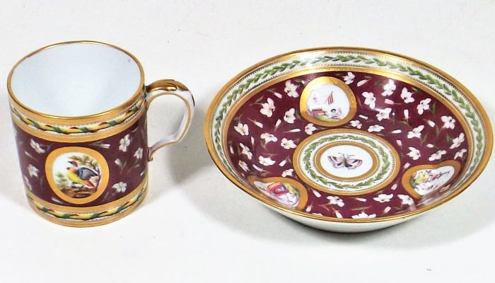 Sevres style cup & saucer secured £1650