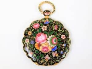 Early 19thC. gold & enamel Le Roy watch