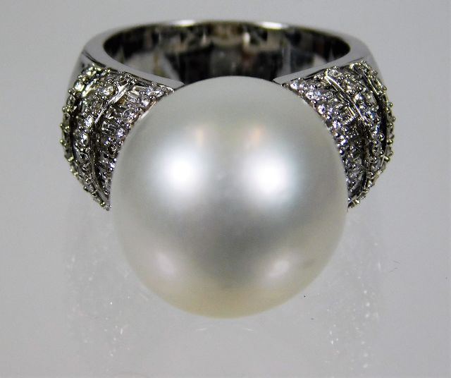 Jewelry & Watches Reliable Ring Shield-shaped Vintage Style Shells Pearl Blue White Tibetan Silver Colours Are Striking
