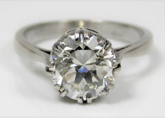 2.5ct diamond solitaire SOLD £9600