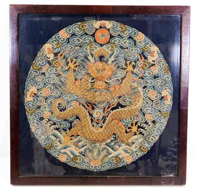 19thC. Chinese framed silk SOLD £4900
