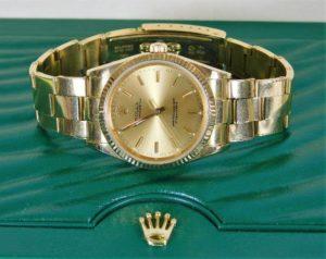 Gents 18ct gold Rolex watch SOLD £3500