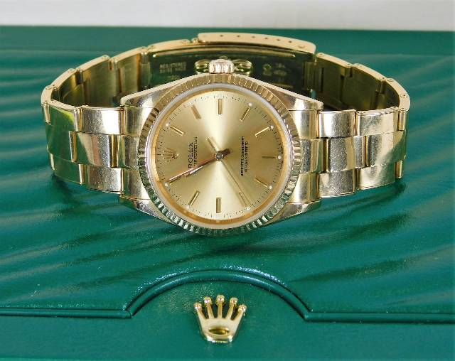 Gents 18ct gold Rolex watch SOLD £3500