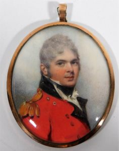 Vice Admiral Richard Crozier miniature SOLD £4200