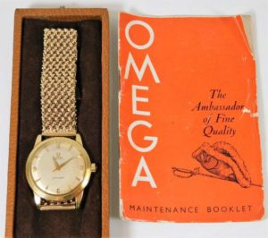 Omega gold watch SOLD £1050
