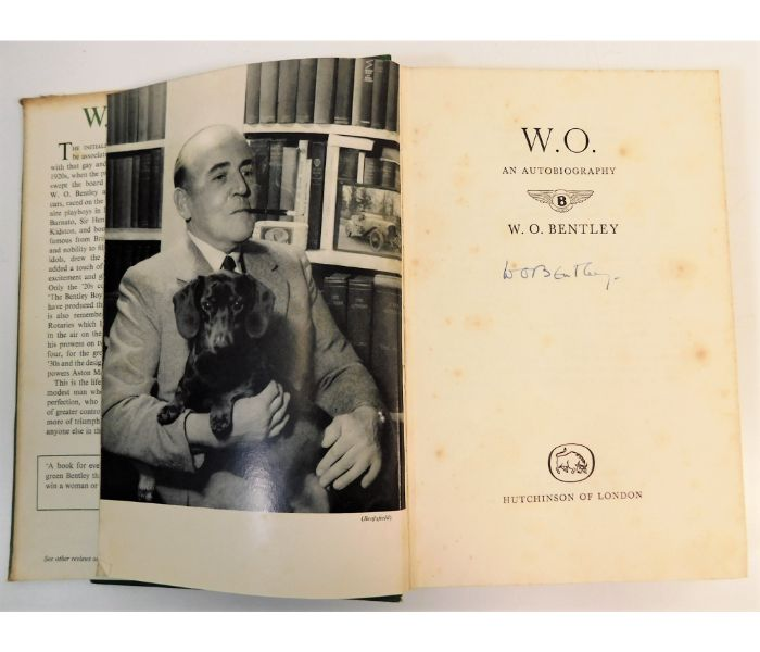 Signed W. O. Bentley book SOLD £440