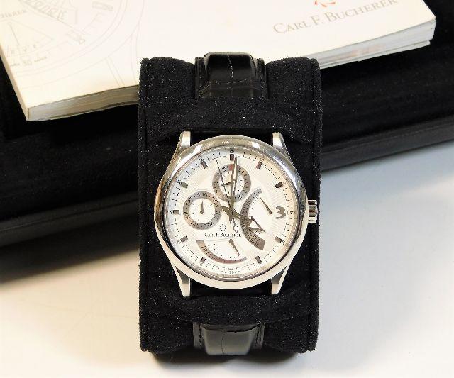 A Carl F. Bucherer Manero chronograph wristwatch with box SOLD £1500