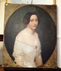 A 19thC. oil portrait a/f £600