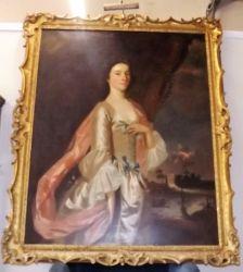 An 18thC. oil on canvas in gilt frame £9400