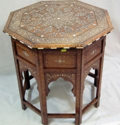 Indian inlaid table £800