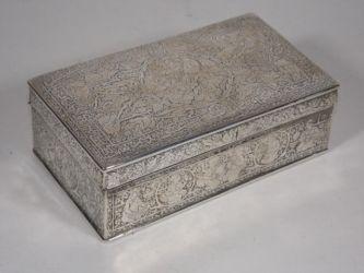 An Asian white metal box £150