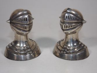 A pair of novelty silver salts £300