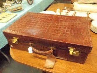 A vintage leather suitcase £100