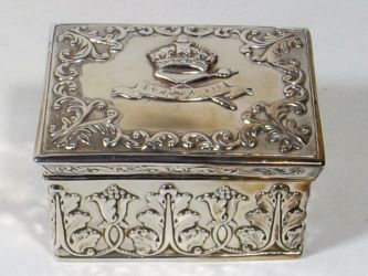 A small embossed silver box £160