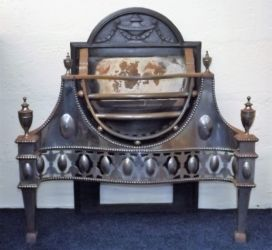A 19thC. steel grate £840