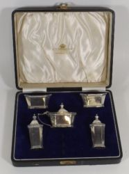 Silver cruet set £150