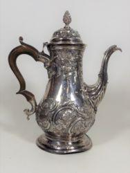 A George III silver coffee pot A/F £1950