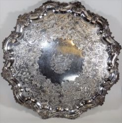 A Victorian plated tray £400