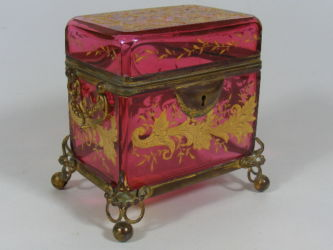 Cranberry jewellery casket £300