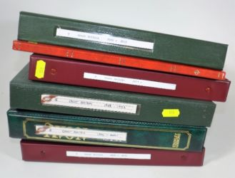 Six albums of modern stamps £500