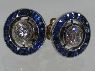 Art deco diamond & sapphire earrings £1500