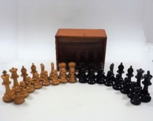 19thC. Ivory chess set with losses, sold £500