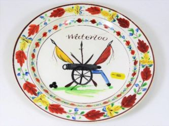 Early 19thC. creamware plate, damaged, sold £270