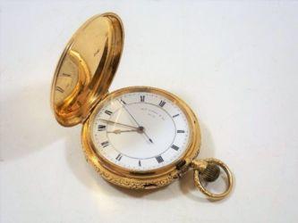 Gold full hunter pocket watch sold £940