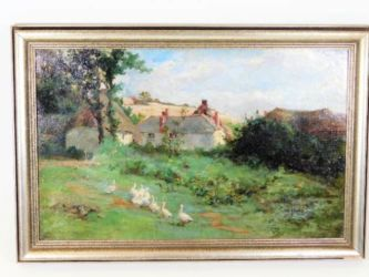 Impressionist oil painting sold £460