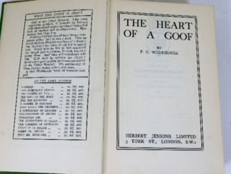 PG Wodehouse signed book sold £310