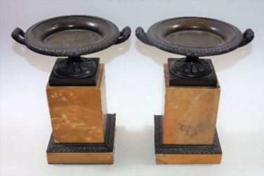 Sienna & marble tazzas sold £440