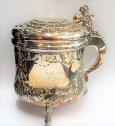Silver tankard sold £430
